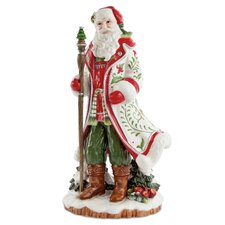 Winter White Holiday Santa Figurine