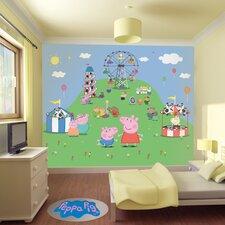 Peppa Pig Muddy Puddles Wall Mural