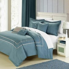 <strong>Chic Home</strong> Mandalay Silver 7 Piece Comforter Set