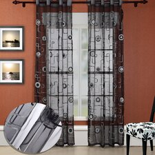 <strong>Chic Home</strong> Moda Organza Grommet Curtain Panel (Set of 2)