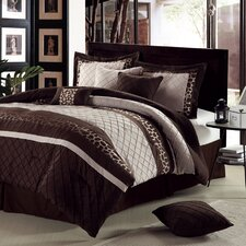 <strong>Chic Home</strong> Cheetah 12 Piece Comforter Set