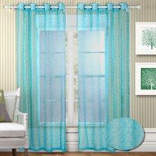 Twinkle Semi Organza Grommet Curtain Panel (Set of 2)