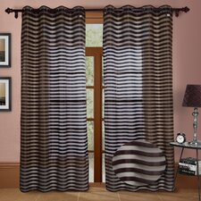 Heidi Faux Silk Organza Grommet Curtain PanelSet of 2)