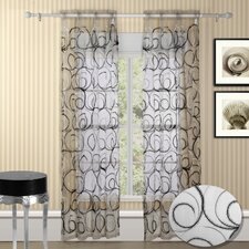 Evelyn Grommet Curtain Panel (Set of 2)