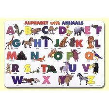 <strong>Painless Learning Placemats</strong> Alphabet with Animals Placemat