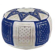 Fez Moroccan Leather Pouf Ottoman