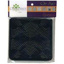 Op Art Rubbing Plate Set (Set of 6)