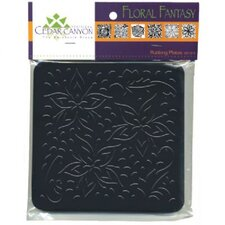 Floral Fantasy Rubbing Plate Set (Set of 6)