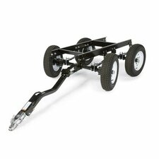 Four-Wheel Steerable Yard Trailer with Duo-Hitch
