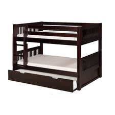 Camaflexi Low Bunk Bed with Twin Trundle