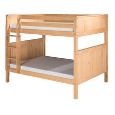 Full over Full Bunk Bed with Panel Headboard