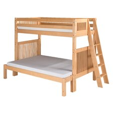 <strong>Camaflexi</strong> Twin Over Full Bunk Bed with Lateral Angle Ladder and Mission Headboard