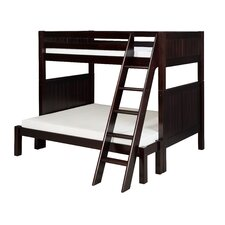Twin over Full Standard Bunk Bed with Angle Ladder