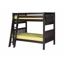 Twin Over Twin Standard Bunk Bed with Angle Ladder