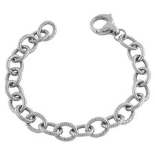 Braided Oval Link Bracelet