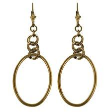 Oval Cut Dangle Earrings