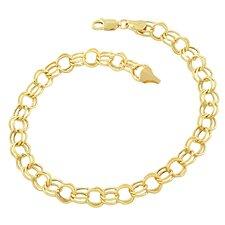 Round Link Charm Bracelet
