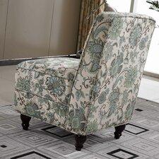 Classic Floral Slipper Chair