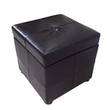 <strong>NOYA USA</strong> Classic Synthetic Leather Storage Cube Ottoman