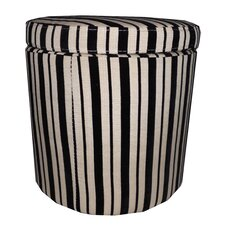 Striped Storage Ottoman