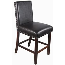 "Luxury 24"" Bar Stool with Nailhead with Cushion"