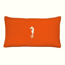 Seahorse Embroidered Sunbrella Fabric Indoor/Outdoor Pillow