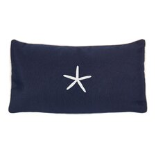 Sunbrella Beach Pillow with Embroidered Starfish and Terry Cloth backs