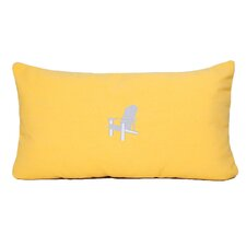 Sunbrella Beach Pillow with Embroidered Adirondack and Terry Cloth backs