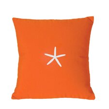 Sunbrella Lumbar Pillow With Embroidered Starfish
