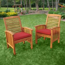 Wood Lounge Chairs in Brown (Set of 2)