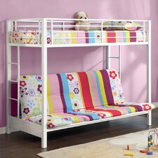 <strong>Home Loft Concept</strong> Sunrise Twin over Futon Bunk Bed with Built-In Ladder