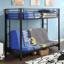 Sunrise Twin over Futon Bunk Bed with Built-In Ladder