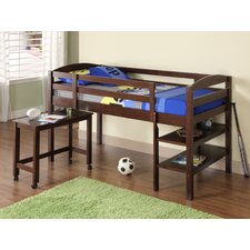 Twin Loft Bed with Desk and Shelf