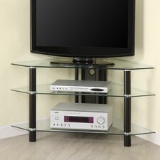"44"" Glass Corner TV Stand"
