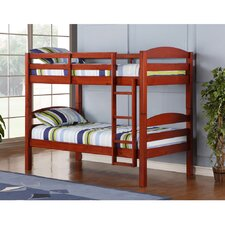 Twin Bunk Bed with Built-In Ladder
