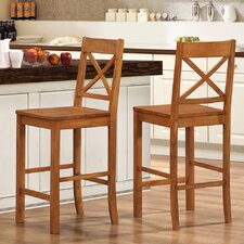 Cross Back Barstool (Set of 2)