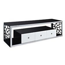 "Black Modern Mosaic 70"" TV Stand"