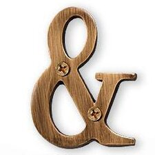 Ampersand Address Lettering
