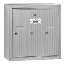 Vertical 3 Door Mailbox for Private Access