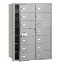4B+ 14 Door Front Loading Horizontal Mailbox for Private Access