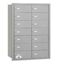 4B+ 14 Door Rear Loading Horizontal Mailbox for USPS Access