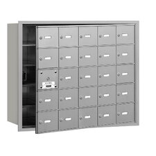 <strong>Salsbury Industries</strong> 4B+ 25 Door Front Loading Horizontal Mailbox for USPS Access