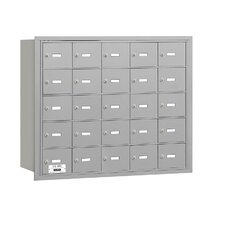 4B+ 25 Door Rear Loading Horizontal Mailbox for Private Access