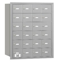 4B+ 24 Door Rear Loading Horizontal Mailbox for Private Access