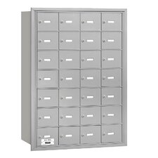 4B+ 28 Door Rear Loading Horizontal Mailbox for USPS Access