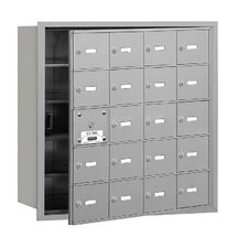 4B+ 20 Door Front Loading Horizontal Mailbox for Private Access