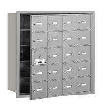 <strong>Salsbury Industries</strong> 4B+ 20 Door Front Loading Horizontal Mailbox for USPS Access