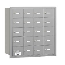 4B+ 20 Door Rear Loading Horizontal Mailbox for Private Access