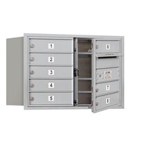5 Door High Unit Double Column Front Loading Horizontal 4C Mailbox for USPS Access
