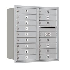 <strong>Salsbury Industries</strong> 9 Door High Unit Double Column Rear Loading Horizontal 4C Mailbox for Private Access